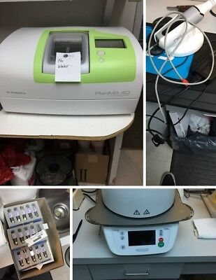 Planmeca Plan 40 Dental Mill & (2) Planscan Wands w/ Laptops & Programat Furnace