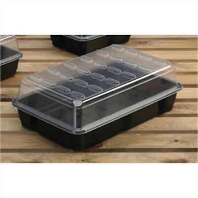 Large Planting Propagator - Budget Garland Black Greenhouse Plants Tray Lid x