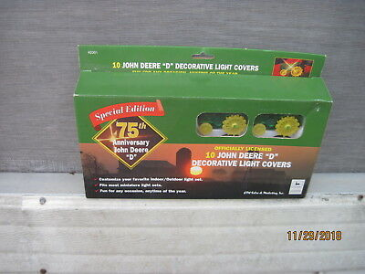 NOS John Deere D Decorative 10 Light Covers 75th Anniversary Special Edition
