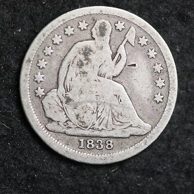 1838 Seated Liberty Dime CHOICE VG FREE SHIPPING E372 XCH