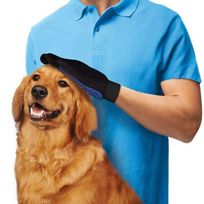 2 x Pet Deshedding Cleaning Brush Magic Glove Dog Cat Hair Massage Grooming Hand