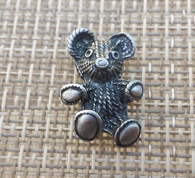ZOO ANIMAL 2 TEDDY BEAR PEWTER PINS All New.
