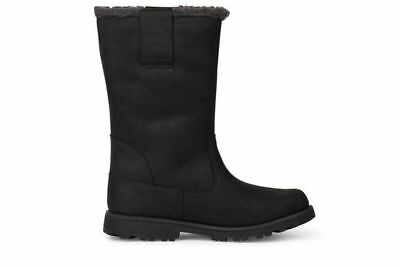 Junior Boys Girl Childrens Kids Unisex Black Timberland Pull On Waterproof Boots