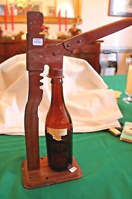 Antique Cast Iron Adjustable Beer Bottle Capper With Vintage Bottle Ryan Brewing