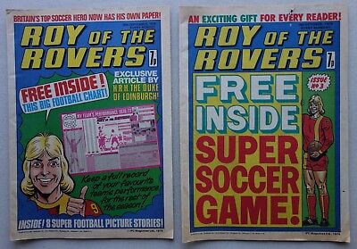 Roy of the Rovers comic #1 and #3 (1976) VG/F, G/VG (phil-comics)