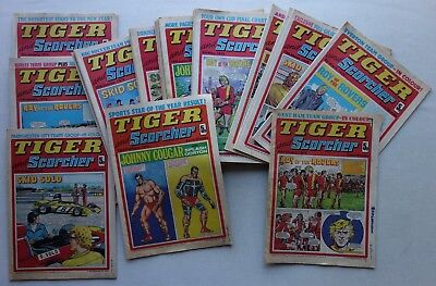 Tiger and Scorcher comic 1975 x 21: 9 x incomplete, rest FR - G/VG (phil-comics)