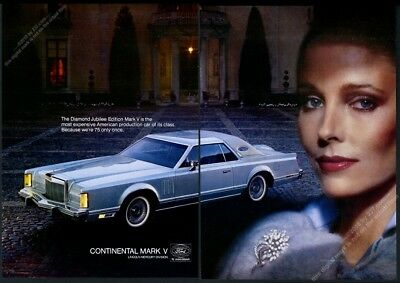 1978 Lincoln Continental Mark V Jubilee Edition car photo vintage print ad