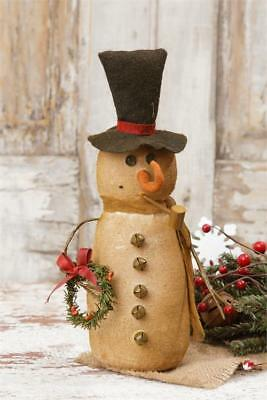 68ede85df4cb1 New Primitive Christmas Frosty Snowman Top Hat Pipe Bells Figure Doll 10