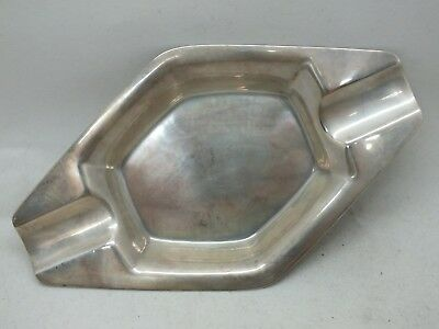 "Cigar Ashtray Art Deco Octagon 6.25"" Tiffany and Co .925 Sterling Silver LE042"