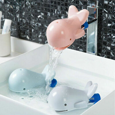 Lovely Whale Animal Faucet Tap Extender Kids Sink Hand Washing Extension Tool