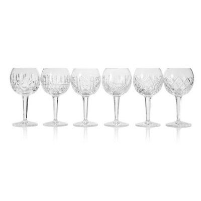"""Waterford Crystal """"Patterns of the Sea"""" 6-Piece Balloon Wine Glass Set"""