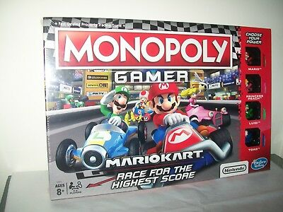 Mario Kart Monopoly Gamer Board Game New Factory Sealed