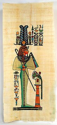 """Egyptian Papyrus - Hand Made Artwork- 5.5"""" x 12.5"""" Ancient Art -Egyptian Lady"""
