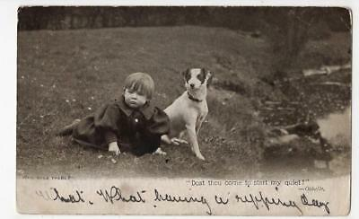 Vintage Postcard,who Goes There?, Toddler & Terrier, Swainby,1904