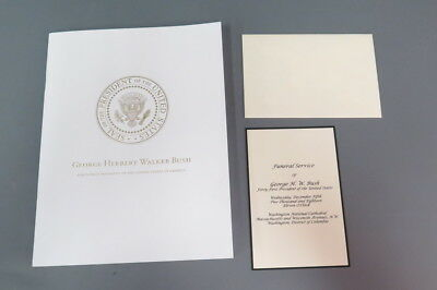 National Cathedral President George H.W. Bush Funeral Program w/ Invitation
