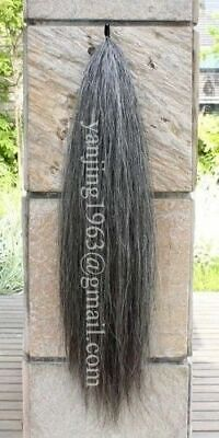 """Natural Loop Dark Gray Show Horse Tail Extension 3/4Lb 28-30"""" aG1 Y.J TAILS"""