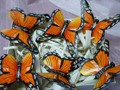 butterfly wood hand painted  6 pieces, nature company