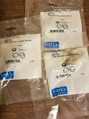 Delta Handle Repair Kit 07191 Lot of 3 Mark's Parts For Single Lever Valve