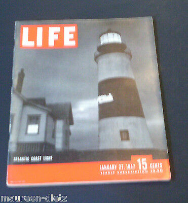 January 27, 1947 LIFE Magazine (Complete) Old ads Shirley Temple FREE SHIPPING