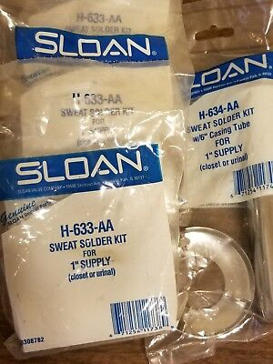 "1"" Supply Sweat Solder Kit Urinal H-633-AA Lot of 4 Sloan"