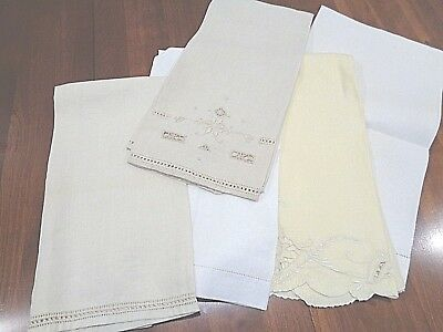 Lot of 5 of  Antique 100% Linen  Very High End Hand Towels