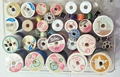 Sewing Ephemora Buttons, Thread Bobbin Wooden & Metal Spools Blazer Buttons