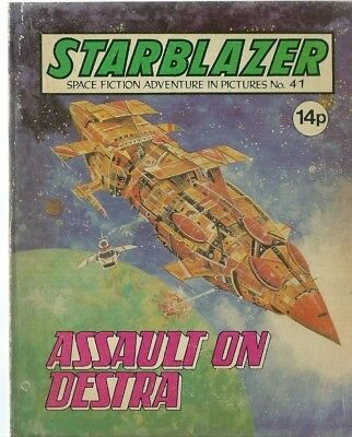 Assault On Destra,starblazer Space Fiction Adventure In Pictures,comic,no.41