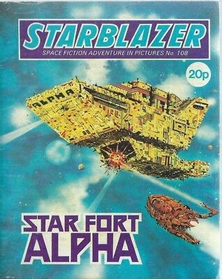 Star Fort Alpha,starblazer Space Fiction Adventure In Pictures,comic,no.108
