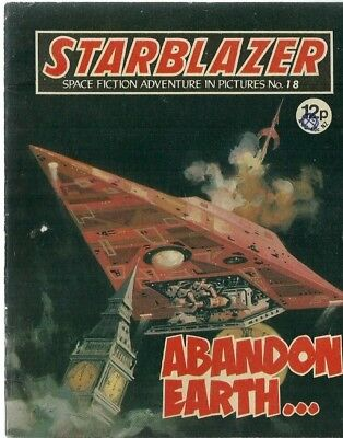 Abandon Earth,starblazer Space Fiction Adventure In Pictures,comic,no.18