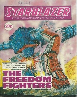 The Freedom Fighters,starblazer Space Fiction Adventure In Pictures,no.118