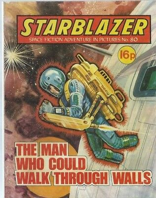 The Man Who Could Walk Through Walls,starblazer Space Fiction Adventure,no.80