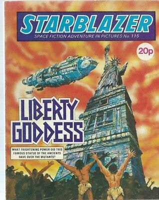 Liberty Goddess,starblazer Space Fiction Adventure In Pictures,comic,no.115