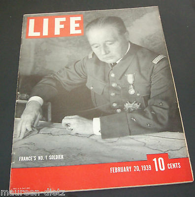 February 20, 1939 LIFE Magazine 30s Advertising ads add ad FREE SHIPPING Feb 2