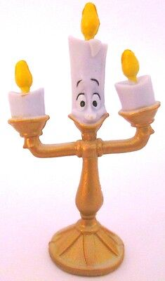 LUMIERE Walt Disney BEAUTY AND THE BEAST PVC TOY Figure CUP CAKE TOPPER FIGURINE