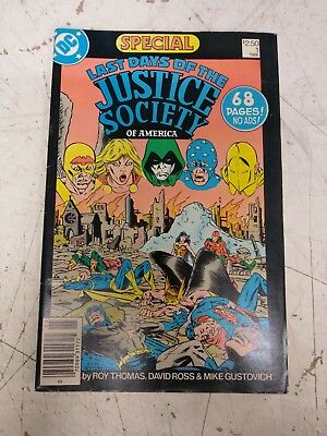 Last Days of the Justice Society of America #1 Comic Book. 1986 DC Comics