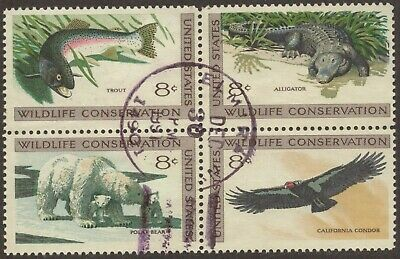 Scott #1427-30 Used Block of 4, Wildlife Conservation