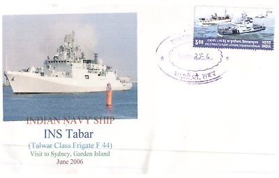 (C 75) Indian Navy special cover for INS Tabar Visit to Sydney - 2006