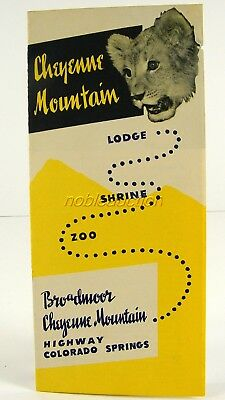 Cheyenne Mountain Brochure 1940's Will Rogers Shrine of The Sun Colorado Springs