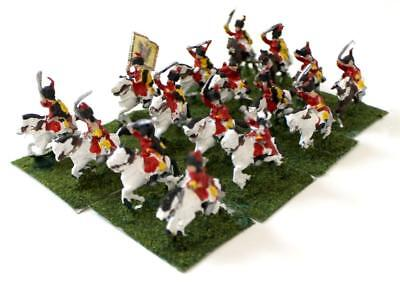 19th Century Miniature Old Glory Seven Yars 15 Austrian Hussars Collection  NM