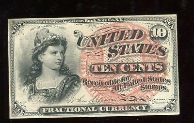 10 Cent 4th Issue Fractional Note | Gem Almost Uncirculated | Fr 1257 | CP1359