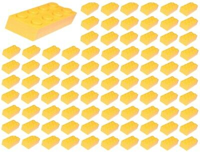 New Lego 2x4 ID 3001 Yellow Bricks Lot of 100