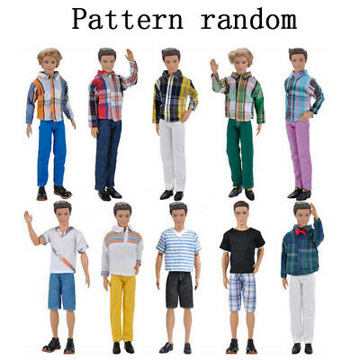 Doll Clothes Casual Wear Jackets Pants Outfit for Barbie Doll Ken 3 Set Wearsuit