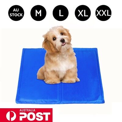 Pet Cooling Gel Mat Dog Cat Bed Non-Toxic Cooling Dog Cat Summer Pad 4 Sizes