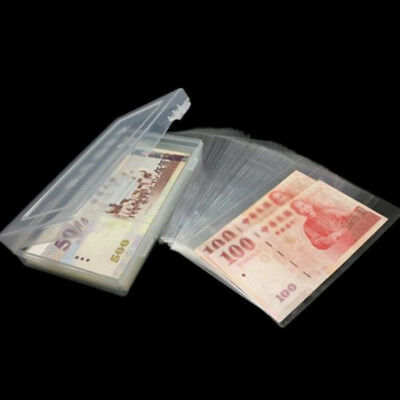 Paper Money Album Currency Banknote Case Storage Collect Bags*100PCS+Box Holder