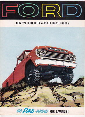 Five 1959 FORD TRUCK Range US Brochures 4WD F-SERIES C-SERIES TRANSMATIC Auto