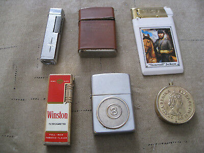 Vintage Lighters Zippo-Winston-Japan-Champ Junk Drawer Lot