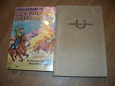 Golden Stallion Rescue Capture Rutherford Montgomery Childrens Horse Book Lot