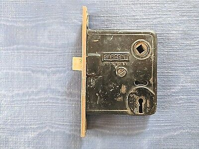Sargent & Co. Antique Mortise Door Lock & Latch Combo Circa 1880's