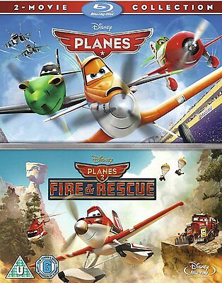 Planes 1 & 2 Fire and Rescue Blu-Ray Box Set Disney Pixar 1-2 BRAND NEW