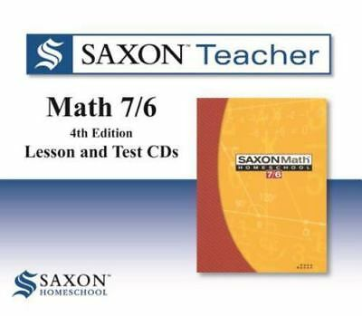 Saxon Math 7/6 Homeschool: Saxon Teacher CD ROM 4th Edition, SAXON PUBLISHERS, G